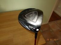 A Callaway Razr X driver with 11.5 degrees loft and a regular flex shaft. Headcover included.