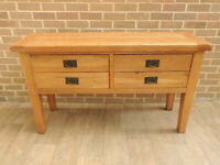 Huge Chunky Unique Console Table Solid Oak (UK Delivery)