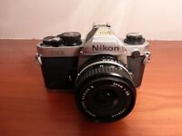 Nikon 35mm slr camera & 28mm lens