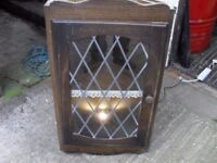 WALL CORNER DISPLAY CABINET WITH LIGHTS
