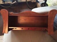Baby child walnut solid wood shelf