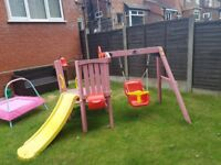 Plum toddler tower climbing frame with slide and swing