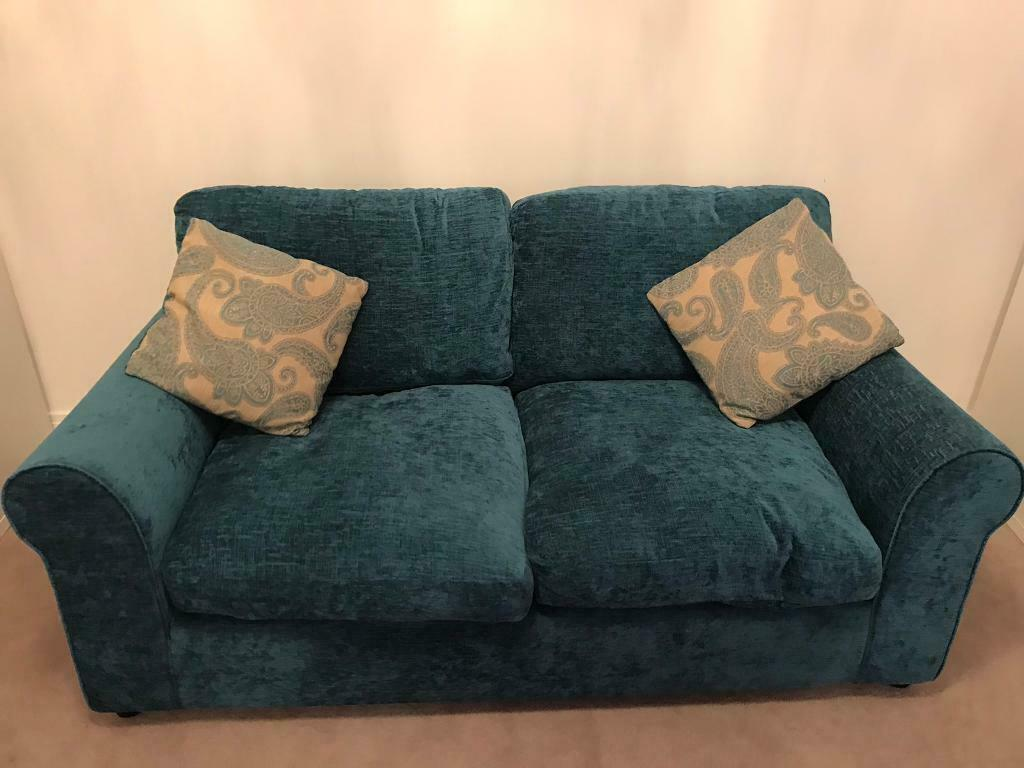 Amazing Argos Home Tammy 2 Seater Fabric Sofa Bed Teal In Aston Clinton Buckinghamshire Gumtree Bralicious Painted Fabric Chair Ideas Braliciousco