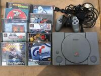 Sony PS1 console plus 10 games - £39