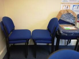 Office Chairs Blue x 16; Waiting Room Chair; some used some new