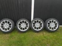 bmw mv2 17 alloys with tyres