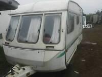 Cheap 4 berth retro caravan ideal security bait hut yard van damp wall