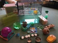 Gerbil cage / tank and accessories bundle