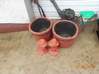 garden planters and ornaments