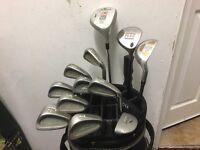 Golf clubs - Full set of clubs, Driver-fairway wood-driving Iron-Irons-Putter-bag-golf glove &balls