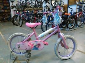 GIRLS DISNEY ENCHANTED DREAMS BIKE 16 INCH WHEELS PINK/WHITE GOOD CONDITION CHRISTMAS