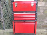 Wheeled Rolling Tool Box, Four Compartment