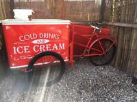 Vintage original ice cream bike good business catering