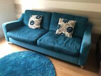 3/4 seater couch & footstool