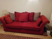 MUST SELL- DFS LARGE 3 SEATER, 2 SEATER PLUS FOOTSTOOL