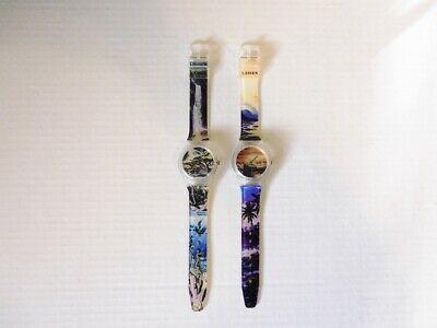 Lassen wrist watch lot of 2 quartz tested and working excellent condition - Conditioner Lassen
