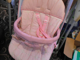 Pink Graco baby swing, excellent condition