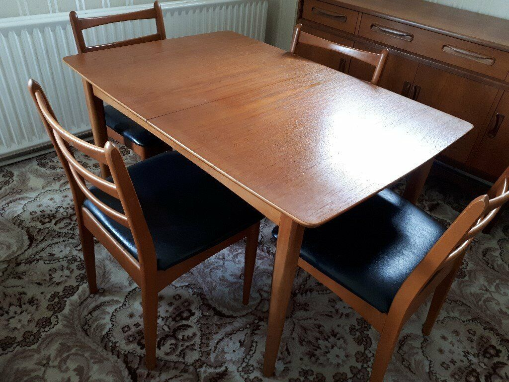 Excellent 1970S G Plan Extending Dining Table And 4 Chairs In Maidenhead Berkshire Gumtree Cjindustries Chair Design For Home Cjindustriesco