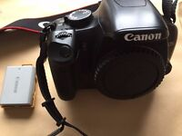 Canon EOS 450d DSLR Camera body + spare battery, strap, body cap & charger