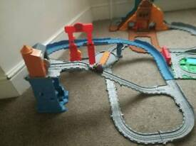 Thomas train track and trains