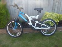 For sale a boys bicycle, 20 inch with 6 gears, as new
