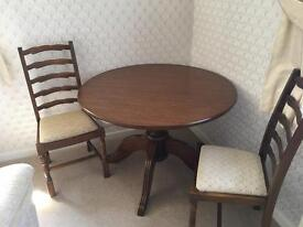Grangemoor pedestal table and pair of chairs