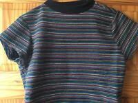 Urban Outfitters multicoloured striped crop top size S