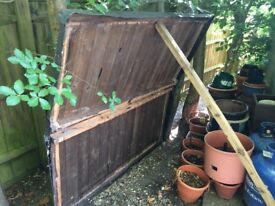 FREE - dismantled garden shed, needs some repair