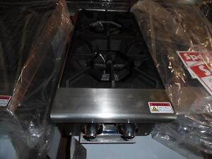 Double Gas burner Brand New Natural Gas or Propane Atosa
