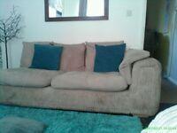 Big chunky corner sofa or x2 sofas if separate beige colour