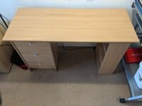 Malibu 3 Drawer Desk - Oak