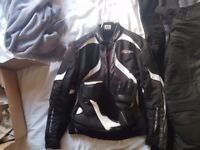 RST Jacket, trousers, Frank Thomas Boots and Gloves: £150