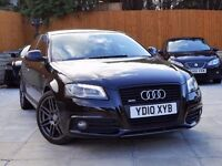2010 AUDI A3 2.0 TDI 170 BLACK EDITION QUATTRO ***FLAT BOTTOM*** **** A4 s3 140 1.9 fr leon golf gtd
