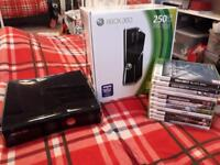 Xbox360/250GB lovely condition lots of extras.