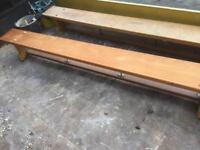 Antique school benches