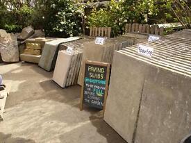 reclaimed concrete paving slabs (council type).