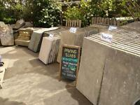 reclaimed concrete paving slabs (council type).