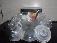 new boxed hoya punch bowl set