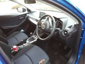 Mazda 2 launch edition 5 door mica blue metalic one owner service history excellent mpg 5 speed