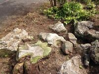 Large boulders / stones for a rockery Free