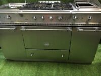 Stunning Lacanche Citeaux Range Cooker Large oven Stainless Steel and chrome