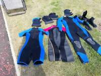 Selection of wet suites