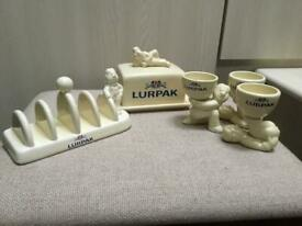 COLLECTABLE LURPACK TABLE WARE, SELLING SEPARATELY