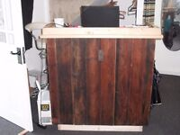 TREATED PINE PLANK SHOP COUNTER - 100CM X 50CM