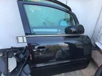 VAUXHALL ZAFIRA DOORS DRIVER / PASSENGER SIDE 2011 BLACK BREAKING FOR PARTS