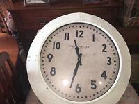 Superb Brand New Extra Large Deep Case Ridge Porthole Wall Clock - Cream