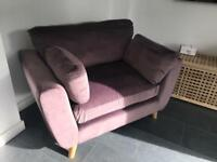 Lilac 3 seater and Love Seat