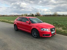 Audi A3 2.0TDI S-Line Black Edition 3dr Cambelt, FSH, Heated Seats Cruise Control