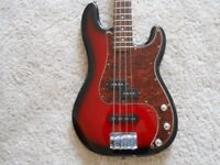 Squier by Fender Standard Series P J Bass made in Indonesia