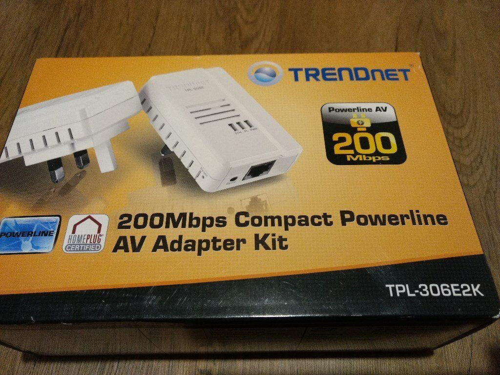 Trendnet Powerline Network Ethernet Adaptors Boxed In Hull East Broadband Modem